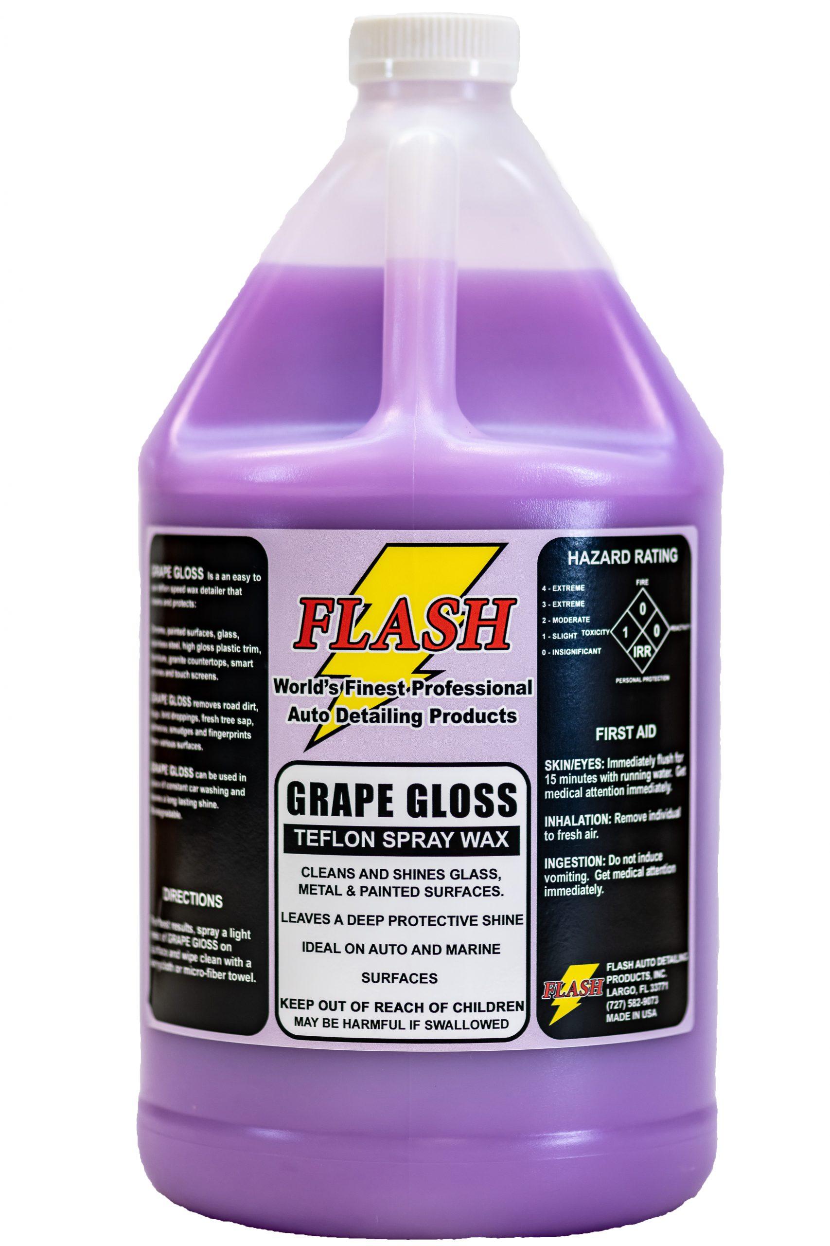 Grape Gloss Teflon Polymer Spray Wax Detailer Flash Auto Detailing Products